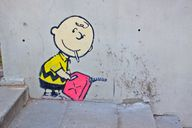banksy charlie brown