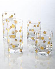 Gold Dot Glassware
