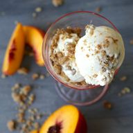 Peach Crisp Ice Crea