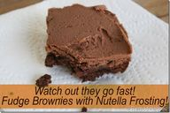 Nutella frosting wit