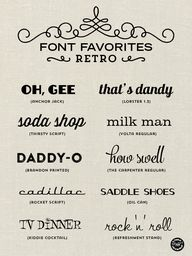 Font Favorites – Ret