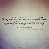 Champagne quote cour
