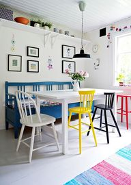 dining with colour!