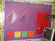 math bulletin board...