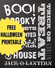 FREE Halloween Print