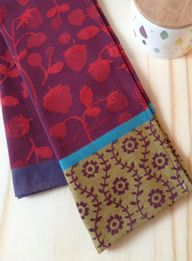 Cotton tea towel 'Fr