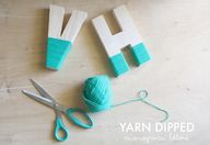 Yarn Dipped Monogram