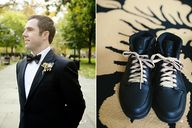 Groom with Nikes and