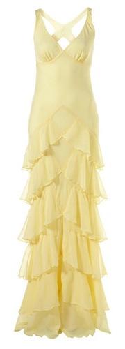 Kate Moss :: Silk Tiered pastel yellow ruffle maxi dress - More pastel ideas here: http://mylusciouslife.com/prettiness-luscious-pastel-colours/