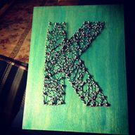 String art K - made