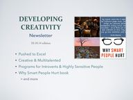 Developing Creativit