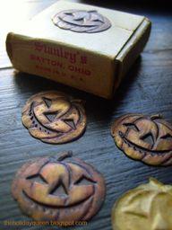 Vintage Tin Pumpkins