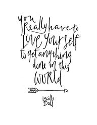 Love yourself to suc...