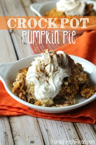 Crockpot Pumpkin Pie
