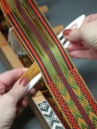 strap weaving on the...