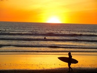 Surf sunset Santa Te