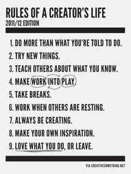 rules of a creator's