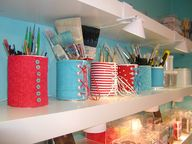 tins with fabric