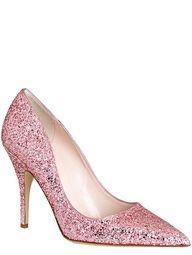 pink glitter pumps