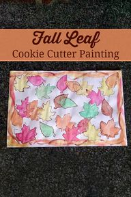 Fall leaf cookie cut