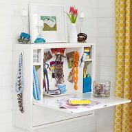 Add a fold-up vanity