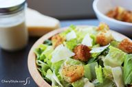 Eggless caesar salad