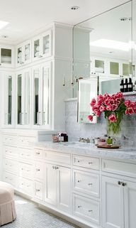 white cabinets + gre