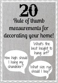 20 Rule of Thumb Mea
