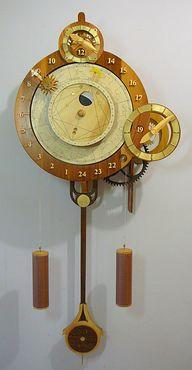 Wooden Gear Clock Pl...