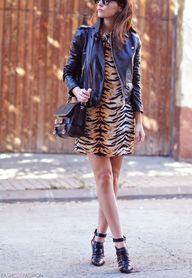 #tiger print and lea...