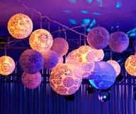 doily lamps - i woul