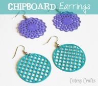 Chipboard Earrings b