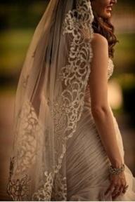 Vintage Wedding Mantilla Veil   Rahibe Duvak Modelleri