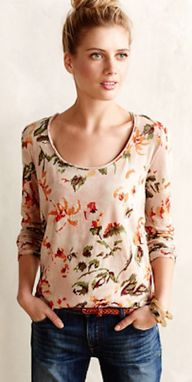 sweet floral tee #an