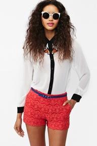 Wildflower Crochet Shorts