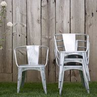 Zinc cafe chairs for