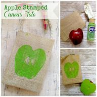 Apple Stamped Canvas