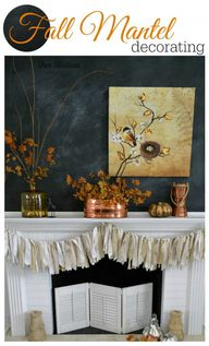 Fall Mantel Decorati