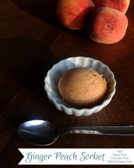 Ginger Peach Sorbet
