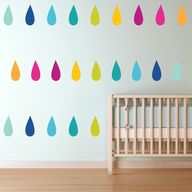 Colorful Teardrops -
