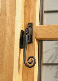 Night Vent Locking Monkeytail Fastener available in Black, Beeswax and Pewter Patina and allows your window to be locked in two positions, including night venting.
