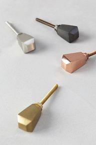 metallic geo knobs