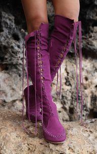 Antique Purple Knee