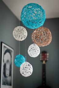 DIY Yarn Ball Mobile