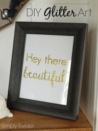 Easy diy glitter art...