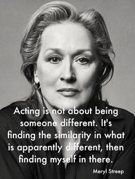 Acting is not about