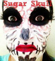sugar skull makeup t