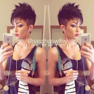 Women's faux hawk: h