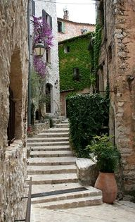 Medieval streets in
