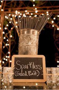 Sparklers Wedding Pr